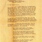 Letter to Dr. Taylor, 1924