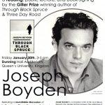 Poster - Joseph Boyden reading