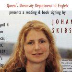 Poster - Johanna Skibsrud reading