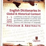 Program for English Dictionaries in Global and Historical Context conference