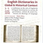 Poster for English Dictionaries in Global and Historical Context conference