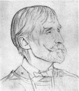 Thomas James Cobden-Sanderson, 1840-1922. Sketch by Sir William Rothenstein, 1916.