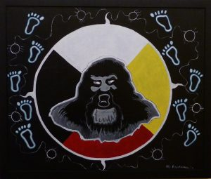 Painting: The Sabe (Sasquatch)