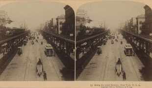 Along the noted Bowery, New York, U.S.A. (1896)